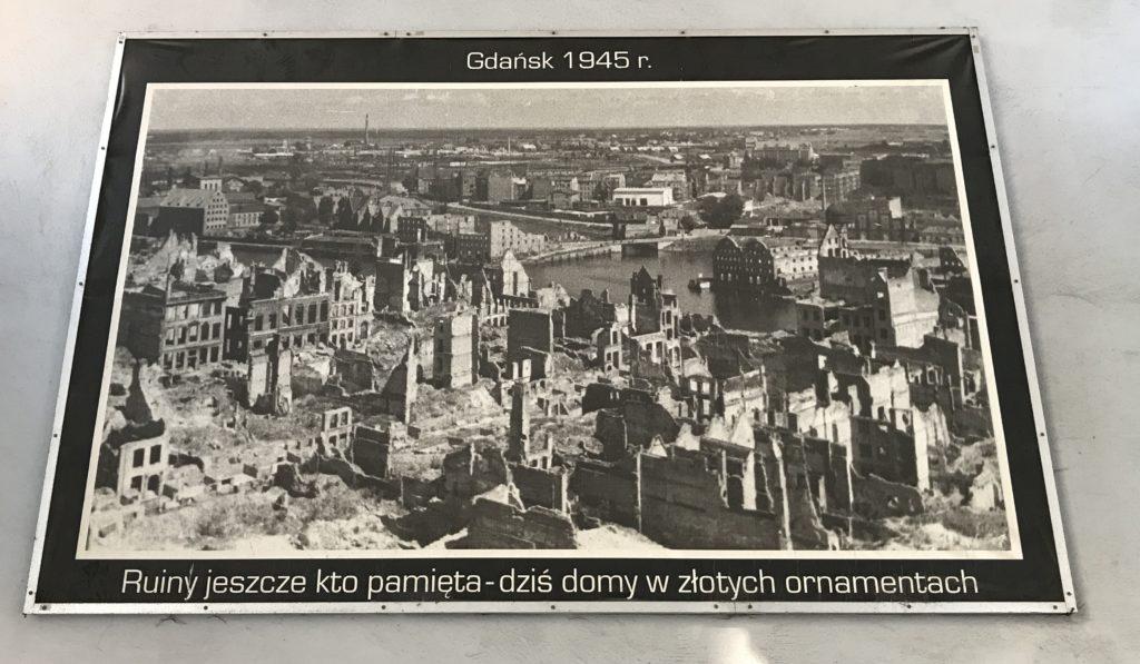 Разрушения в Гданьске после войны, 1945 г
