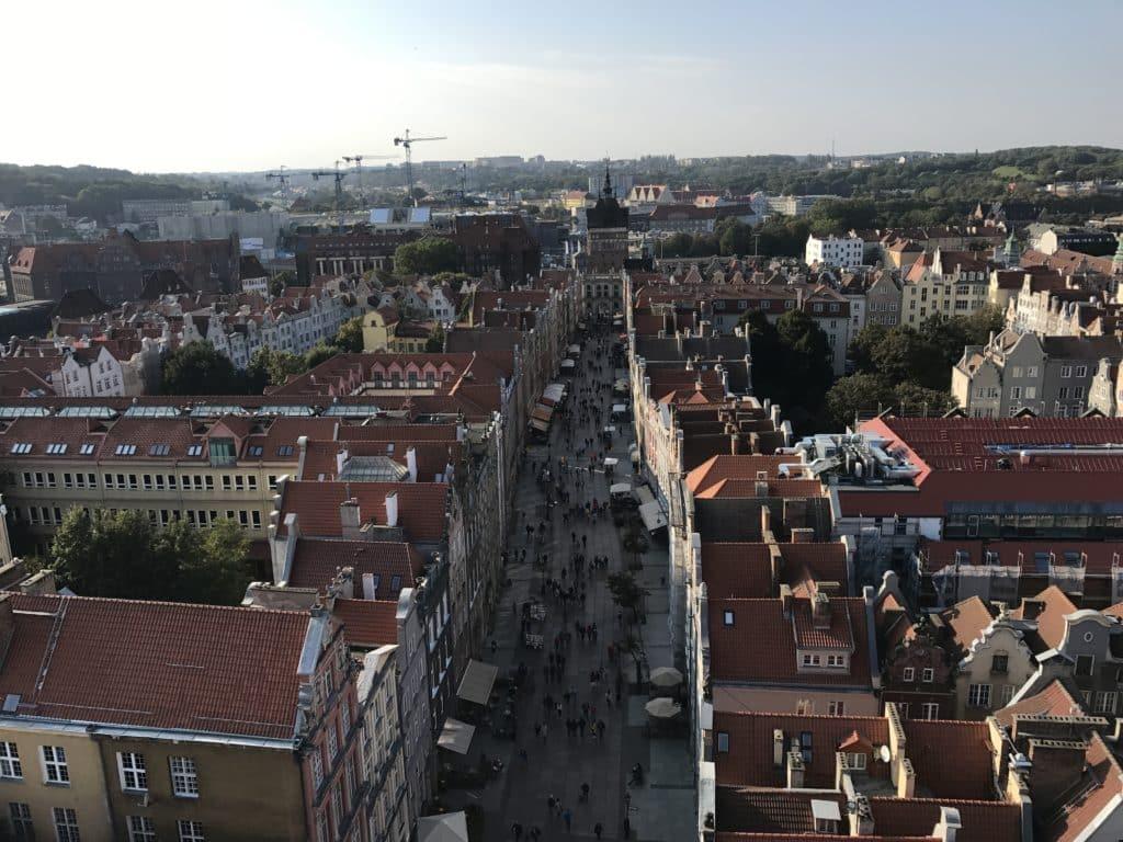 Вид на улицу Длугу с Ратуши, Гданьск