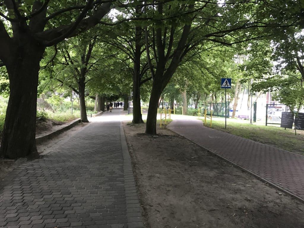 Прогулочные дорожки в парке в Сопоте