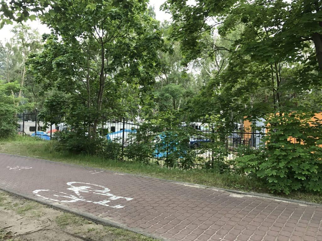 Велосипедные дорожки в парке вдоль моря