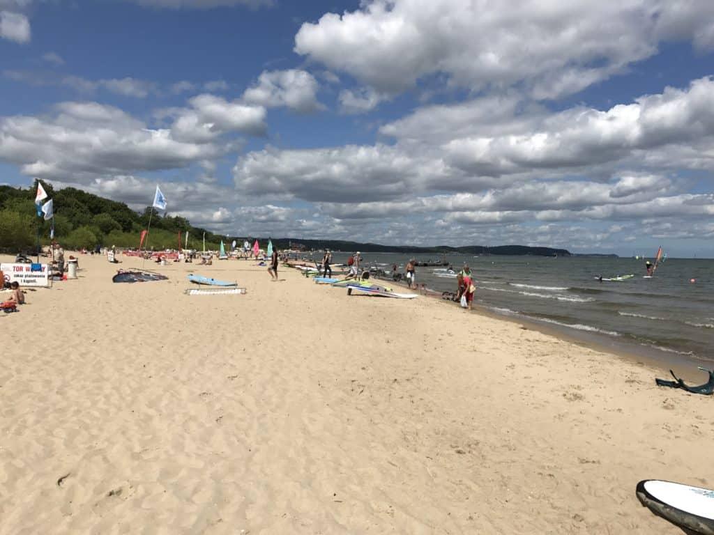 Пляж в Сопоте, Польша