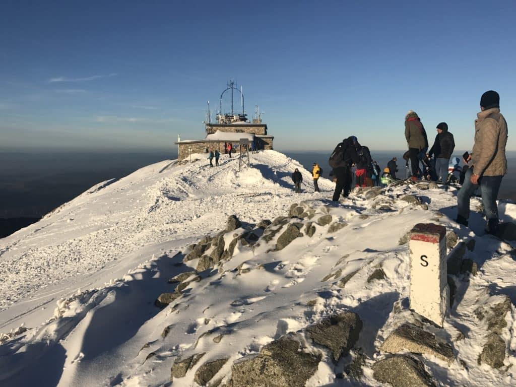 Самая высокая точка горы Каспровы Верх