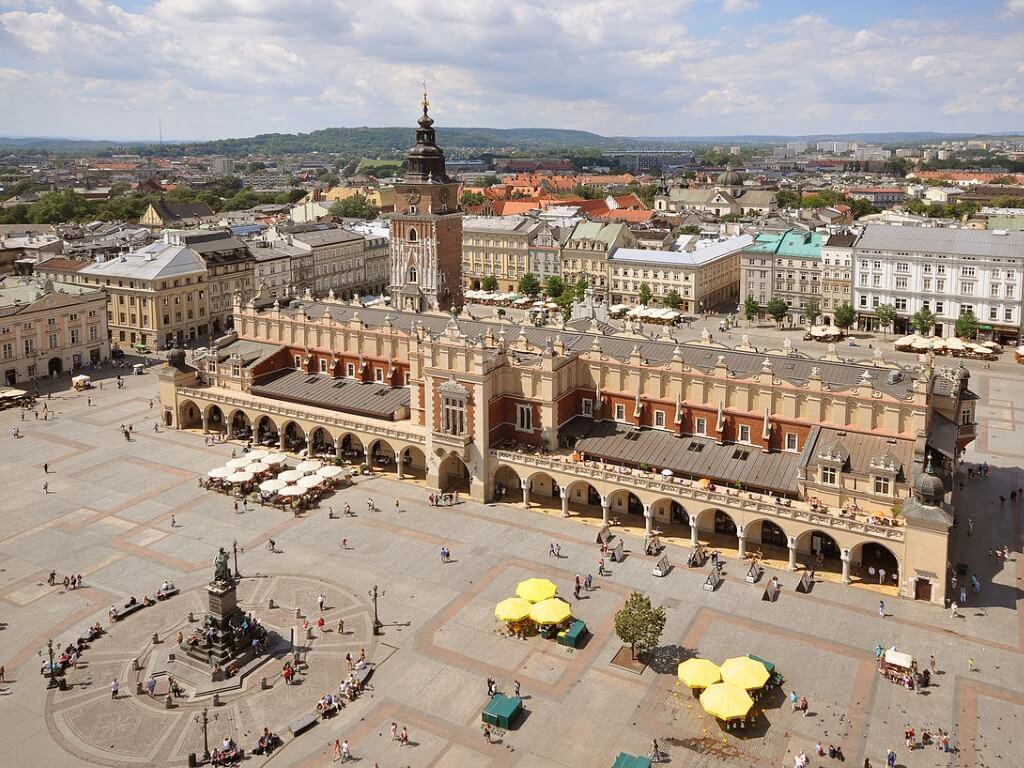 Площадь Рынок и панорама Кракова